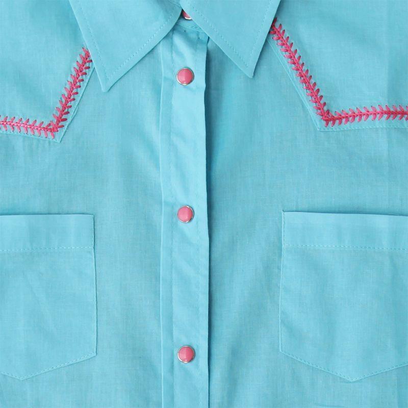 画像3: ローパー ステッチ ウエスタンシャツ ターコイズ・ピンク(長袖/レディース)/Roper Long Sleeve Western Shirt(Women's)