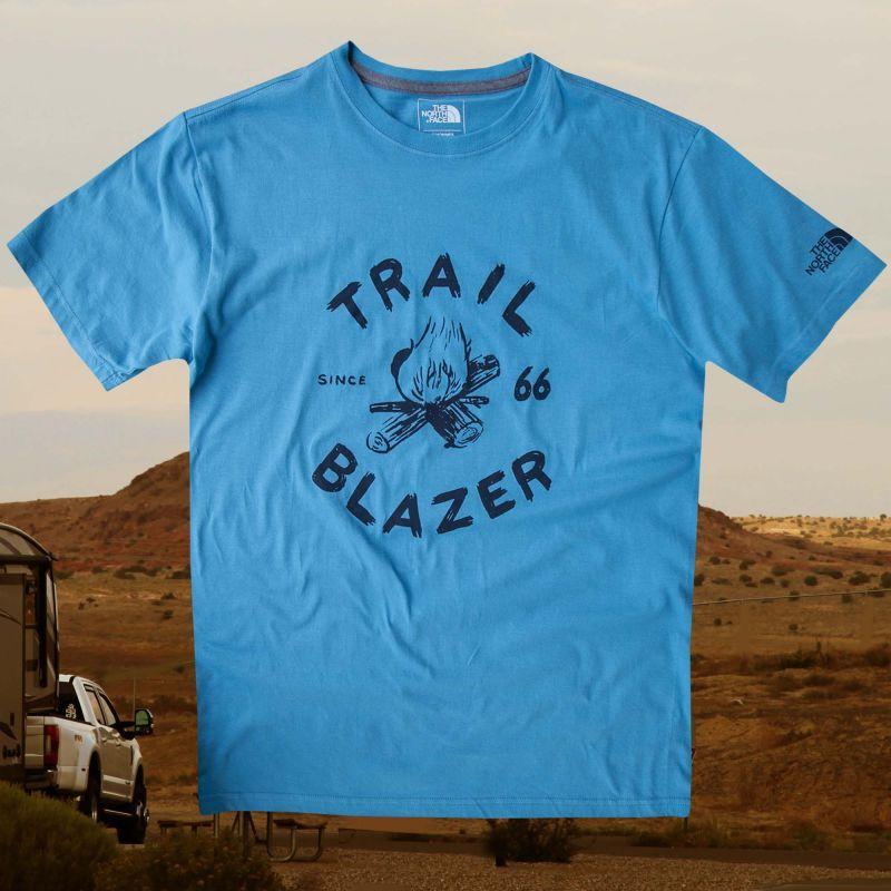 画像1: ノースフェイス Tシャツ TRAIL BLAZER(半袖・ブルー)/The North Face T-shirt