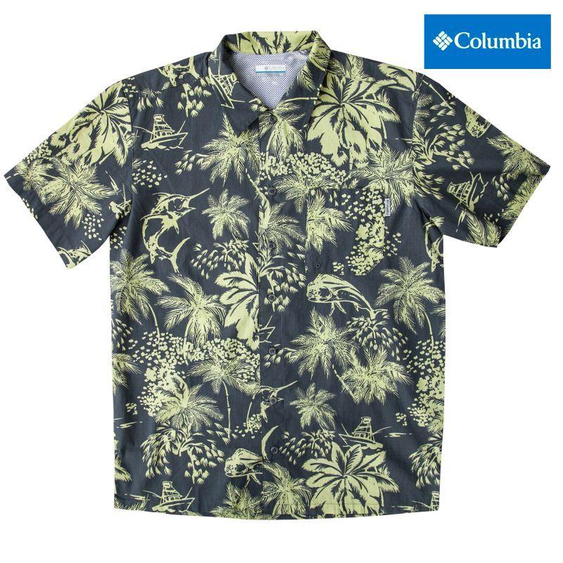 画像1: コロンビア 半袖 シャツ(ネオンライト)/Columbia Sportswear Short Sleeve Shirt