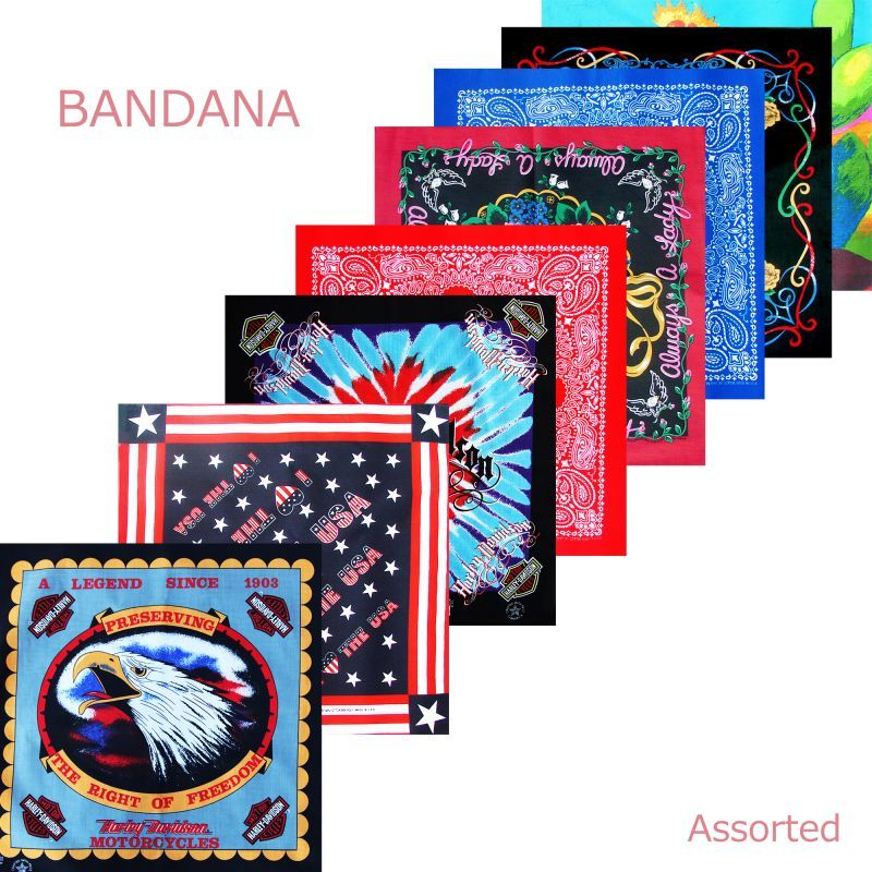 画像1: イベント用 アメリカ輸入 バンダナ 60枚セット(アソート)/Bandanas