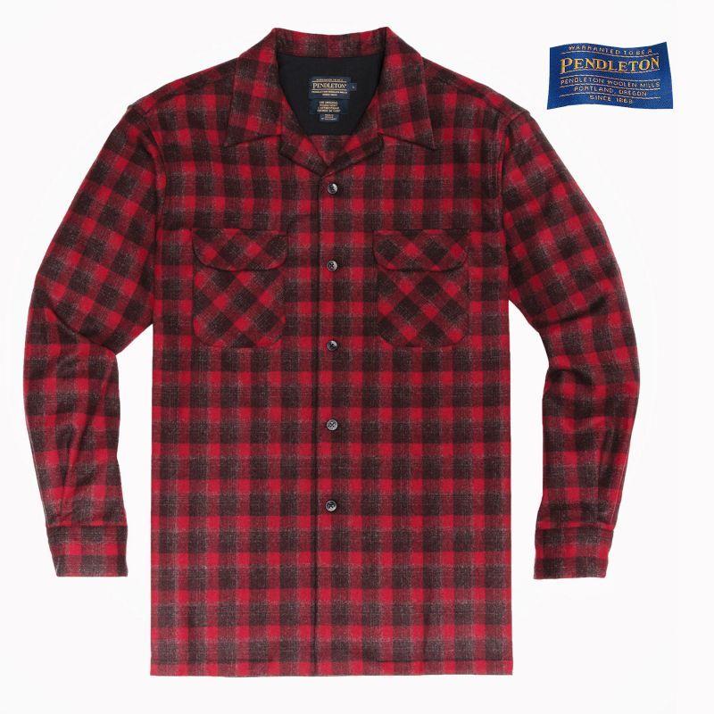 画像1: ペンドルトン バージンウールシャツ ボードドシャツ(ダークレッドプラッド)S/Pendleton Board Shirt(Dark Red Plaid)
