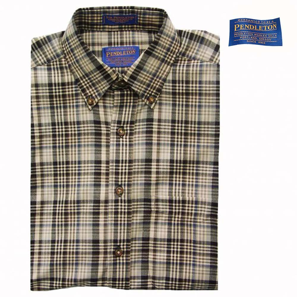 画像1: ペンドルトン サーペンドルトン ウールシャツ (ブルーチェック)S/Pendleton Sir Pendleton Wool Shirt