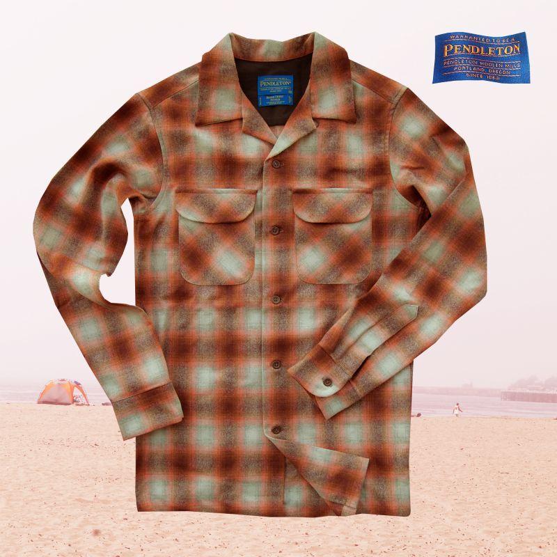 画像1: ペンドルトン ウールシャツ フィッテッド ボードシャツ オレンジ・ラスト/Pendleton Fitted Board Shirt (1)