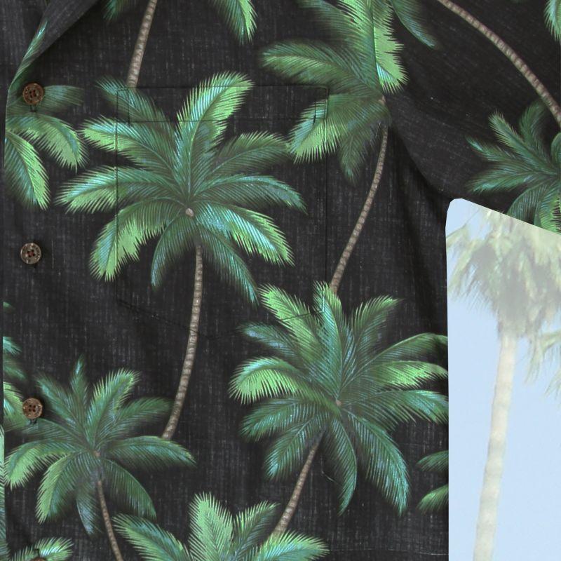 画像3: RJC ロバート・J・クランシー アロハシャツ パームツリー(ブラック・グリーン)/RJC Aloha Shirt