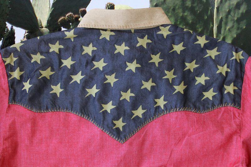 画像2: スカリー アメリカンフラッグ ピックステッチ ウエスタン シャツ レッド(メンズ・長袖)S/Scully Pick Stitch Patriotic Shirt(Red)