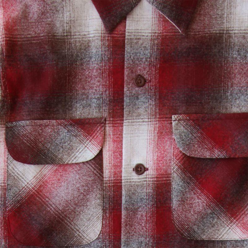 画像2: ペンドルトン ウールシャツ ビンテージフィット ボードシャツ クラレット・タン/Pendleton Vintage Fit Board Shirt
