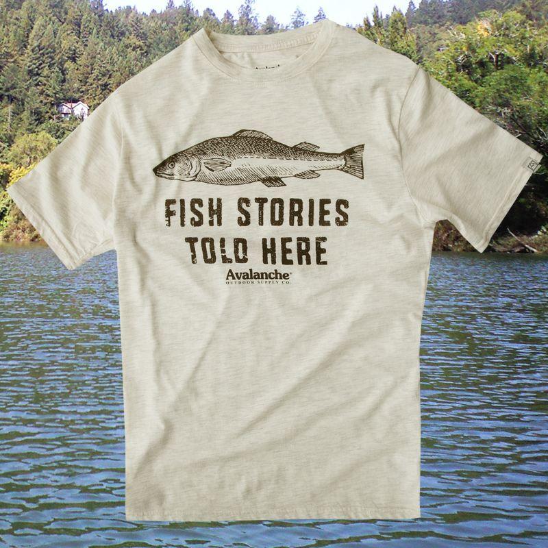 画像1: フィッシング 半袖 Tシャツ フィッシュストーリーズ(オフホワイト)/Graphic T-shirt (Off White)