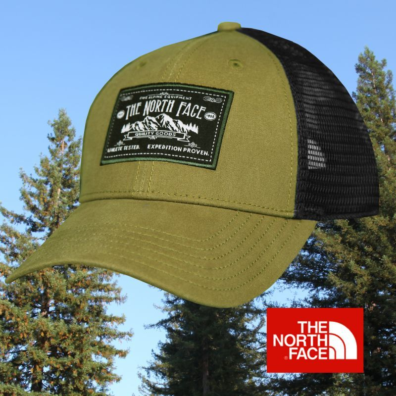 画像1: ザ・ノース・フェイス アウトドア メッシュ キャップ(グリーン・ブラック)/The North Face Tracker Hat (1)