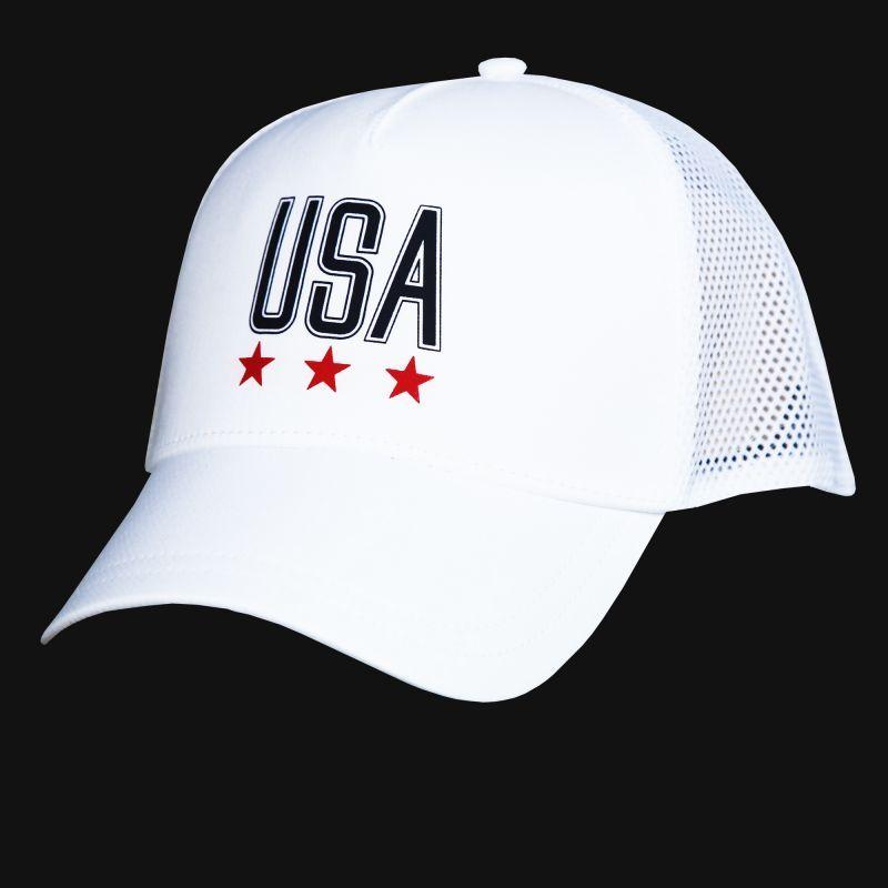 画像1: アンダーアーマー USA メッシュ キャップ(ホワイト)/Under Armour Baseball Cap(Women's)