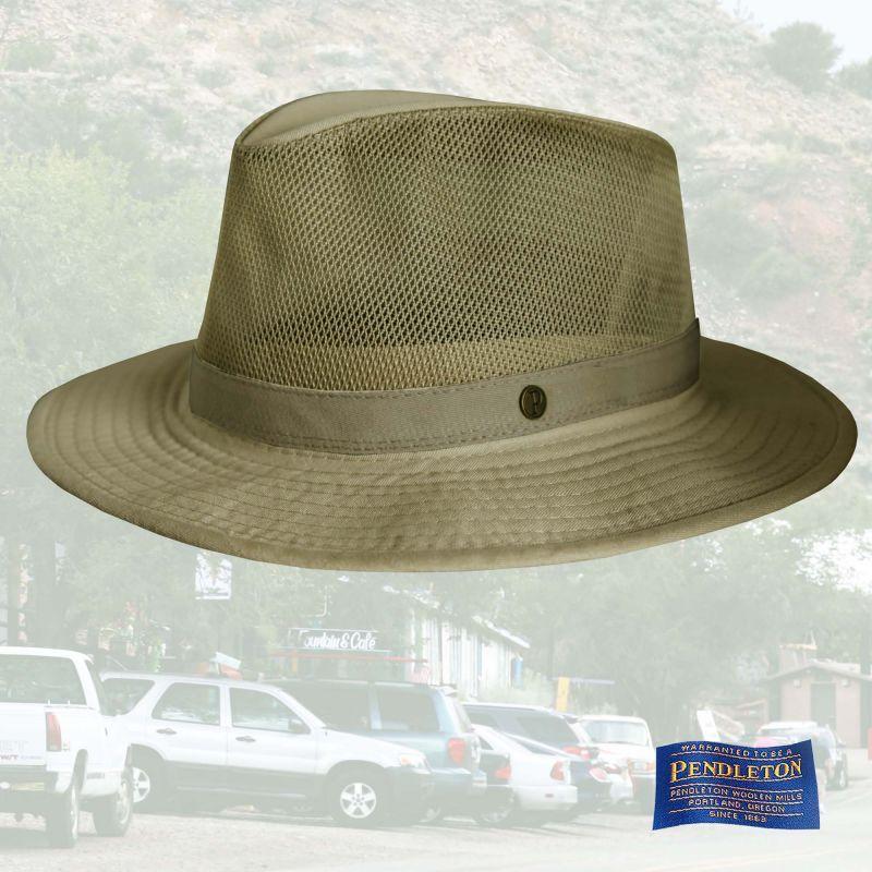 画像1: ペンドルトン メッシュクラウン ブリーザーハット(ライトグリーンカーキ)M/Pendleton Breezer Hat