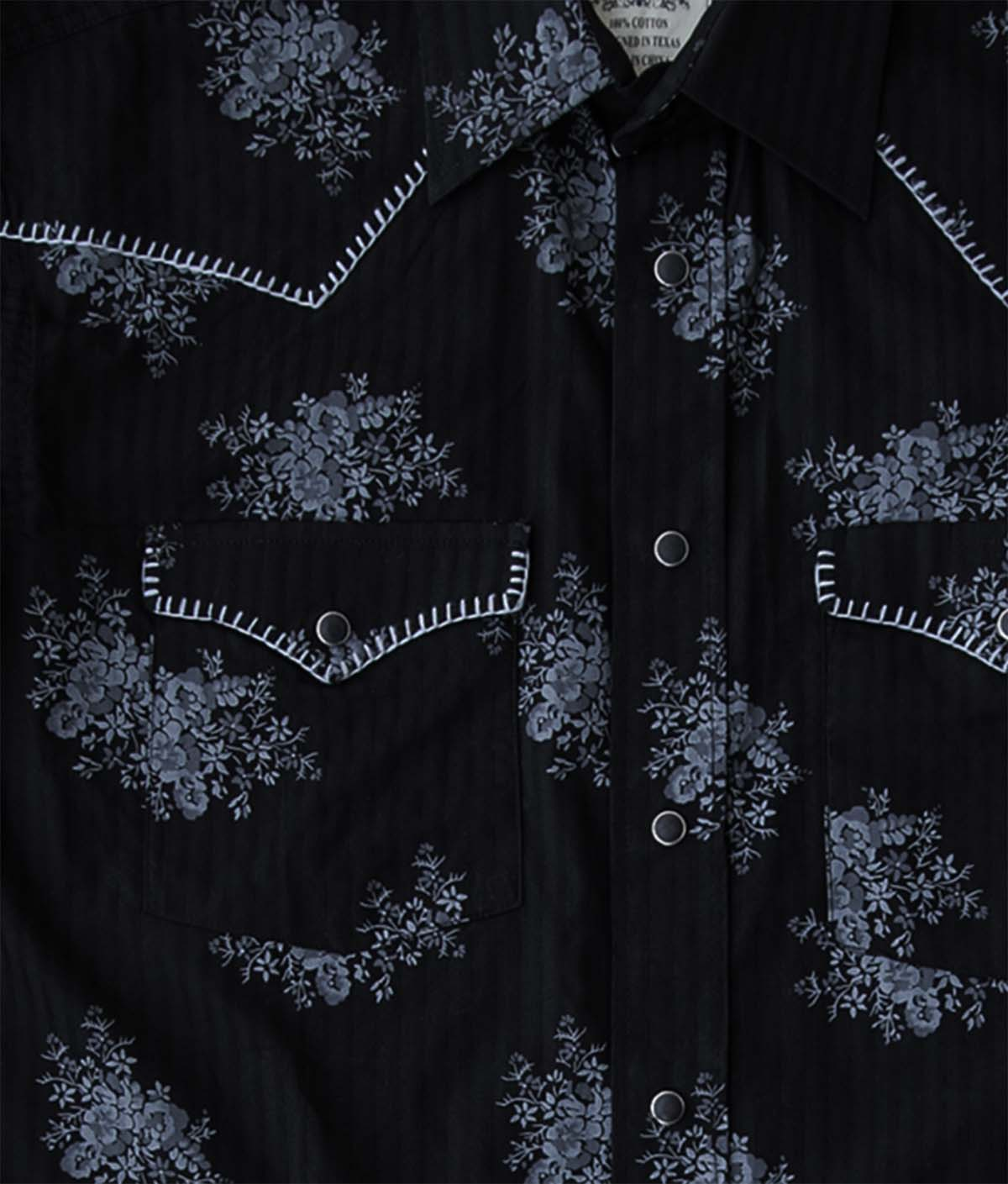 画像2: パンハンドルスリム ラフストック ウエスタンシャツ(ブラック/長袖)/Rough Stock Long Sleeve Western Shirt by Panhandle Slim(Black)