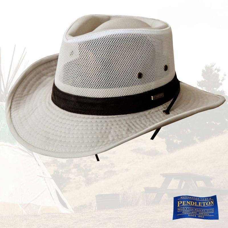 画像1: ペンドルトン メッシュクラウン シェイパブルブリム ハイカー ハット(パテ)L/Pendleton Shapable Hiker Hat(Putty) (1)