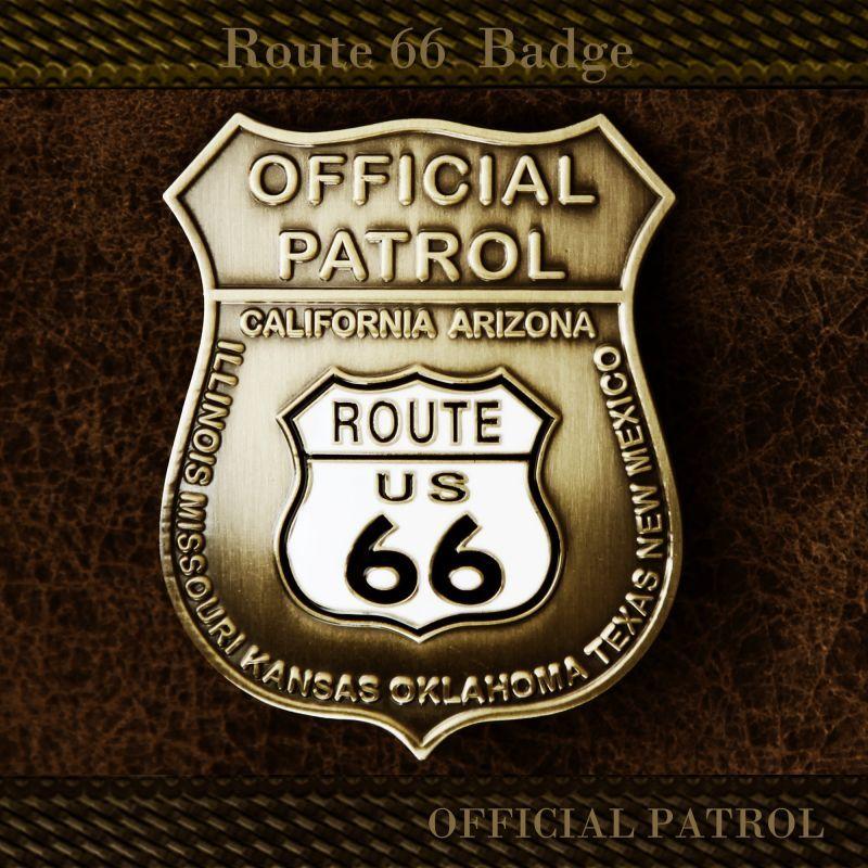 画像1: ルート66  オフィシャルパトロール バッジ/Route 66 Badge