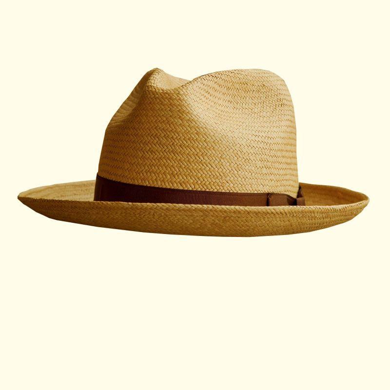 画像1: パナマ フェドラ ハット/Straw Hat (1)