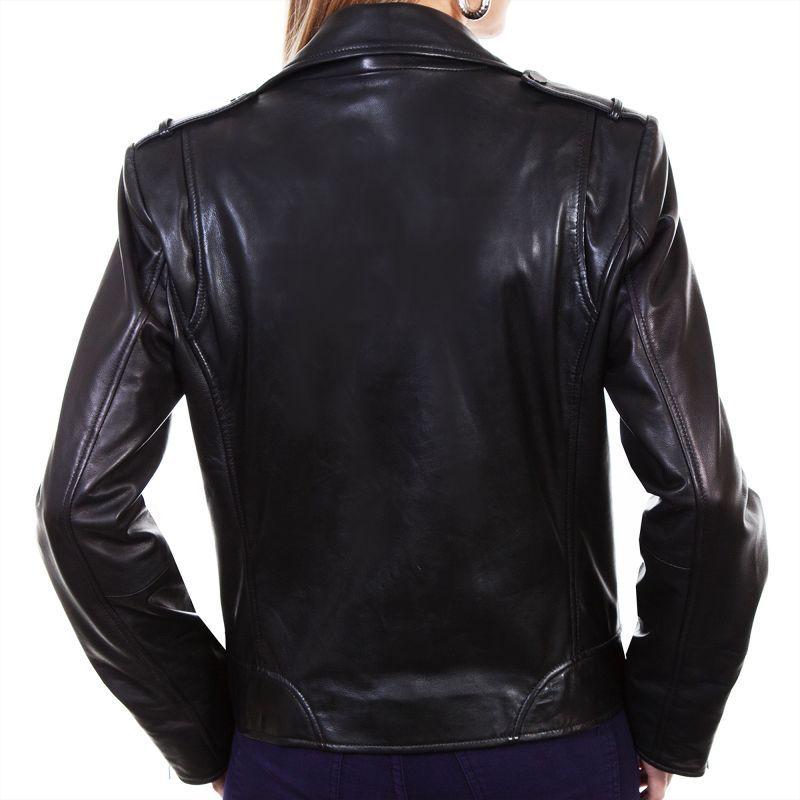 画像3: スカリー レディース ラムレザー モーターサイクル ジャケット(ブラック)/Scully Soft Touch Lamb Motorcycle Jacket(Black)