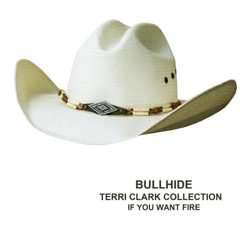 画像1: ブルハイド ウエスタン ストロー ハット イフユーウォントファイアー(ナチュラル)/Bullhide Western Straw Hat If You Want Fire(Natural) (1)