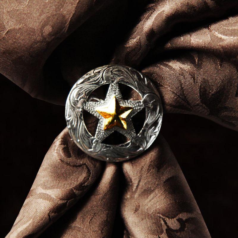画像1: スカーフ スライド スカーフ留め 大判スカーフ ワイルドラグ用(テキサススター)/Scarf Slide Texas Star (1)