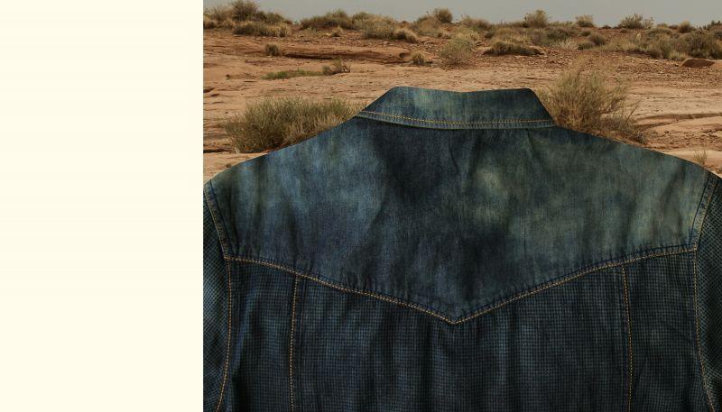 画像4: スカリー ウエスタン デニム シャツ(長袖/デニム)/Scully Long Sleeve Western Shirt(Men's)