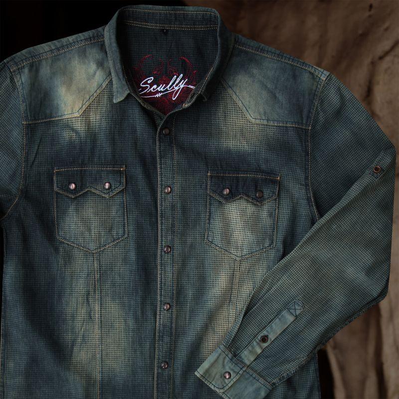 画像3: スカリー ウエスタン デニム シャツ(長袖/デニム)/Scully Long Sleeve Western Shirt(Men's)