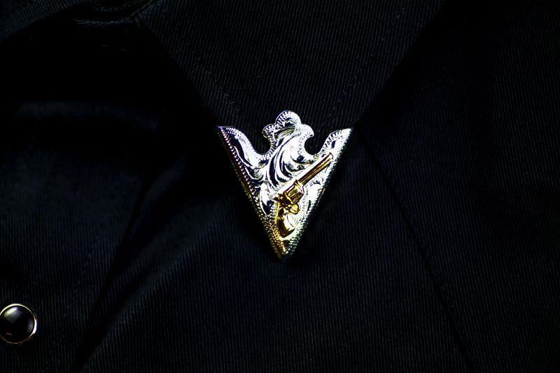 画像2: ウエスタン カラーチップ(シルバー・ゴールドガン)/Collar Tips