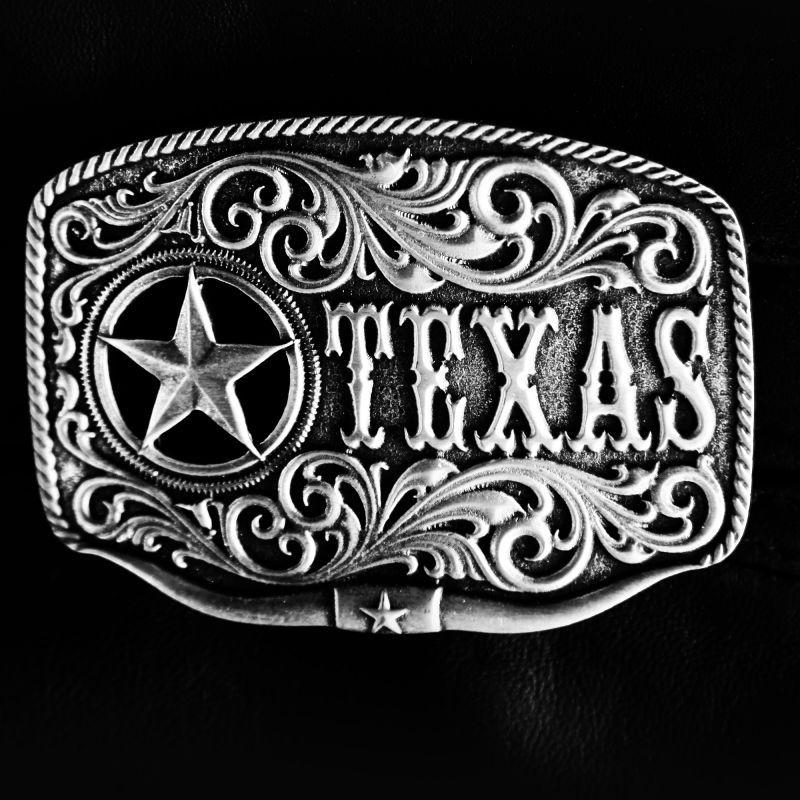 画像1: モンタナシルバースミス ベルト バックル テキサス ローンスター ロングホーン/Montana Silversmiths Belt Buckle (1)