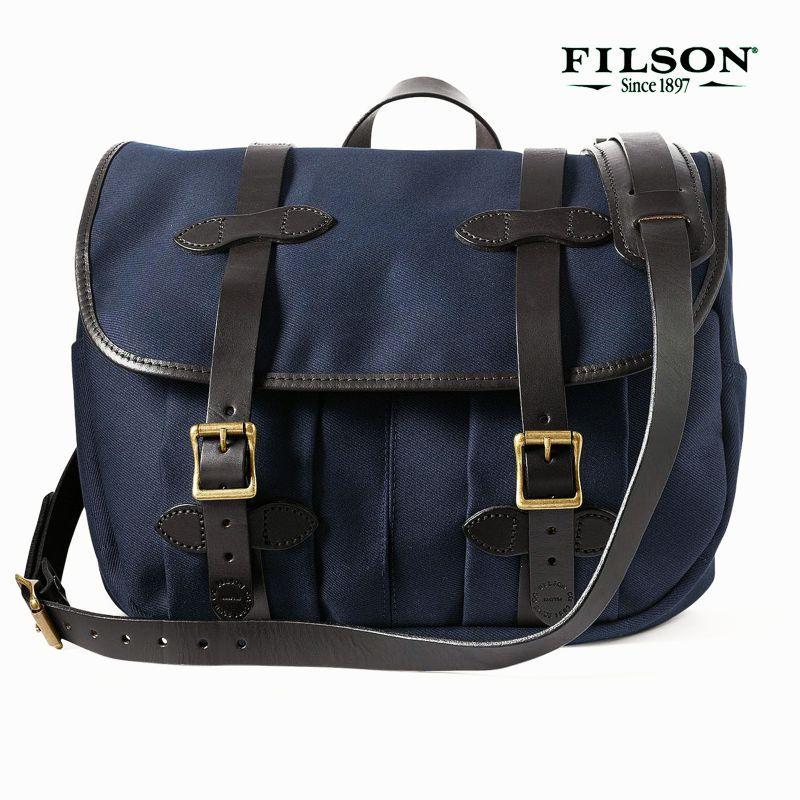 画像1: フィルソン ラージショルダーバッグ(ネイビー)/Filson Medium Field Bag(Navy)