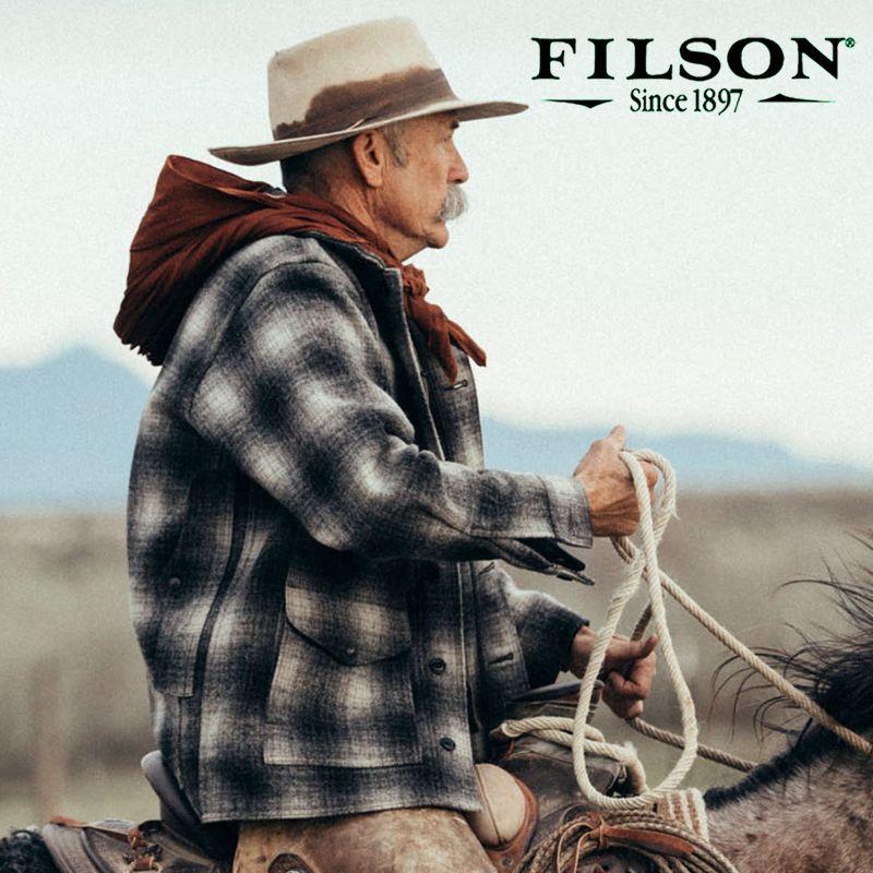 画像1: フィルソン バージンウール マッキーノ クルーザー(グレー×チャコール)XS/Filson Mackinaw Cruiser(Gray×Charcoal) (1)