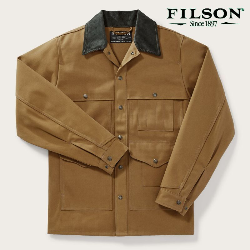 画像1: フィルソン キャンバス クルーザー ジャケット(ウォームタン)/Filson Canvas Cruiser Jacket(Warm Tan)