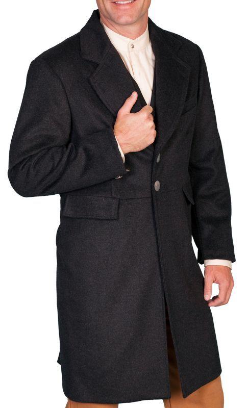 画像2: ワーメーカー フロック コート(ヘザーブラック)34/Wah Maker Wool Blend Frock Coat(Heather Black)