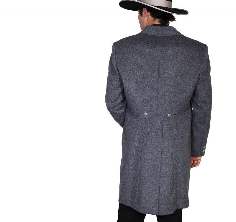 画像4: ワーメーカー フロック コート(ヘザーブラック)34/Wah Maker Wool Blend Frock Coat(Heather Black)