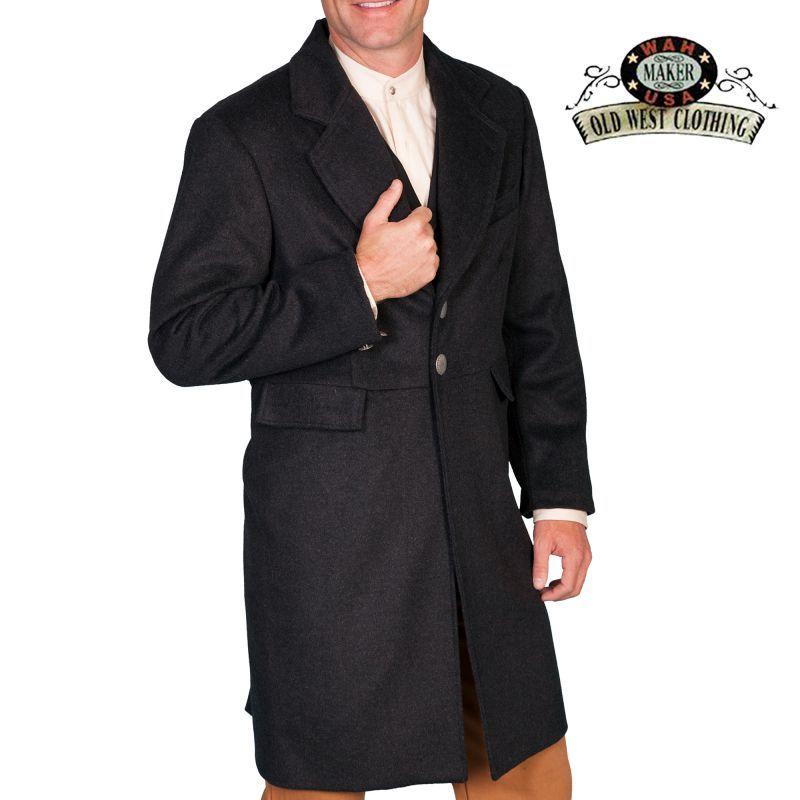 画像1: ワーメーカー フロック コート(ヘザーブラック)34/Wah Maker Wool Blend Frock Coat(Heather Black)