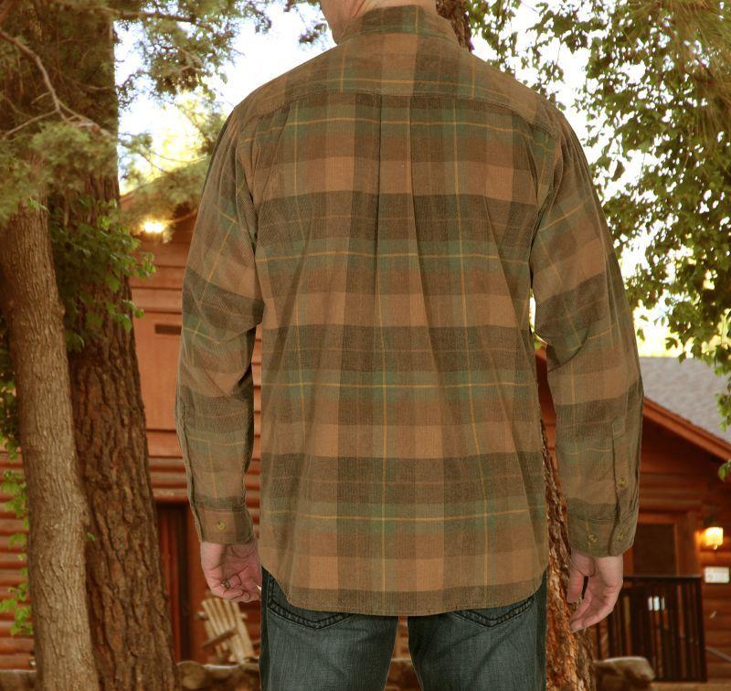 画像2: スカリー 長袖 コーデュロイ シャツ ブラウン・グリーンS/Scully Long Sleeve Corduroy Plaid Shirt