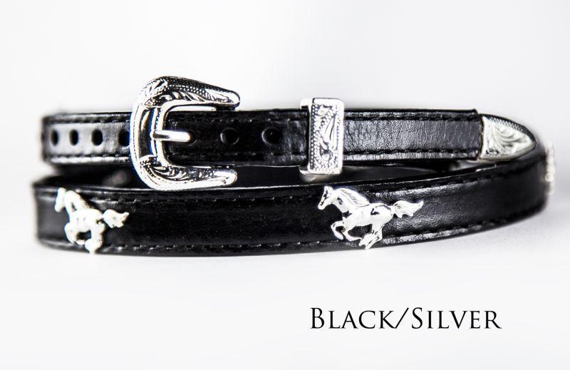 画像3: ハット バンド ランニング ホース(ブラック)/Hat Band Leather w/Running Horses(Black)