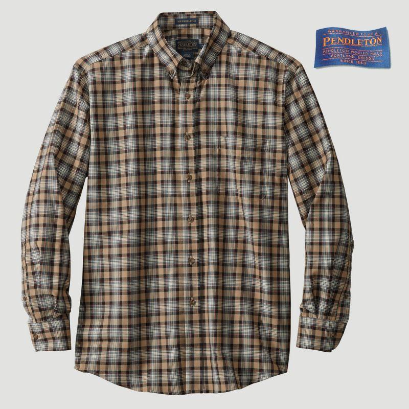 画像1: ペンドルトン サーペンドルトン ウールシャツ(スチュワートキャメルタータン)/Pendleton Sir Pendleton Wool Shirt (1)