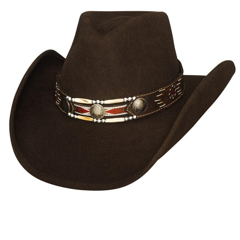 画像1: ブルハイド カウボーイハット ゲットアロング(チョコレート)/Bullhide Cowboy Hat Get Along(Chocolate) (1)