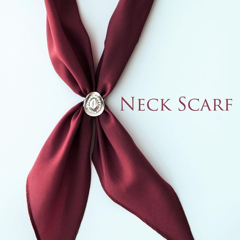 画像1: アメリカンカウボーイタイ ネックスカーフ(バーガンデイ)/Cowboy Tie/Neck Scarf(Burgundy)