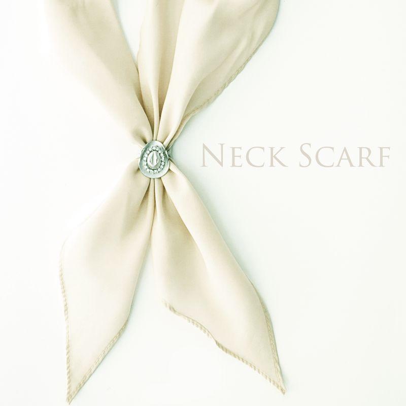 画像1: アメリカンカウボーイタイ ネックスカーフ(アイボリー)/Cowboy Tie/Neck Scarf(Ivory)