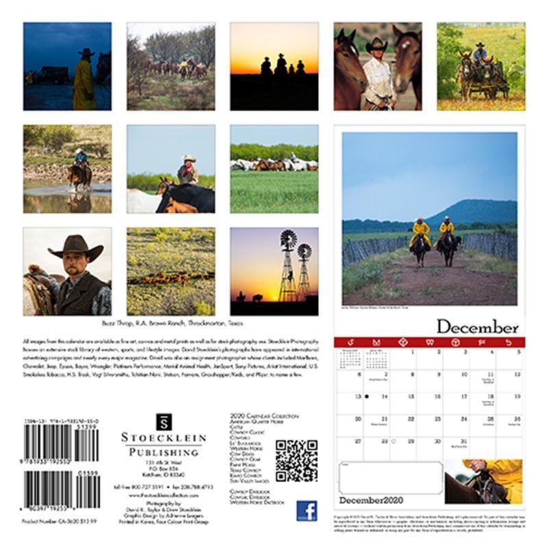 画像2: ウエスタン&ホース カレンダー テキサス カウボーイ/2020 Texas Cowboy Calendar