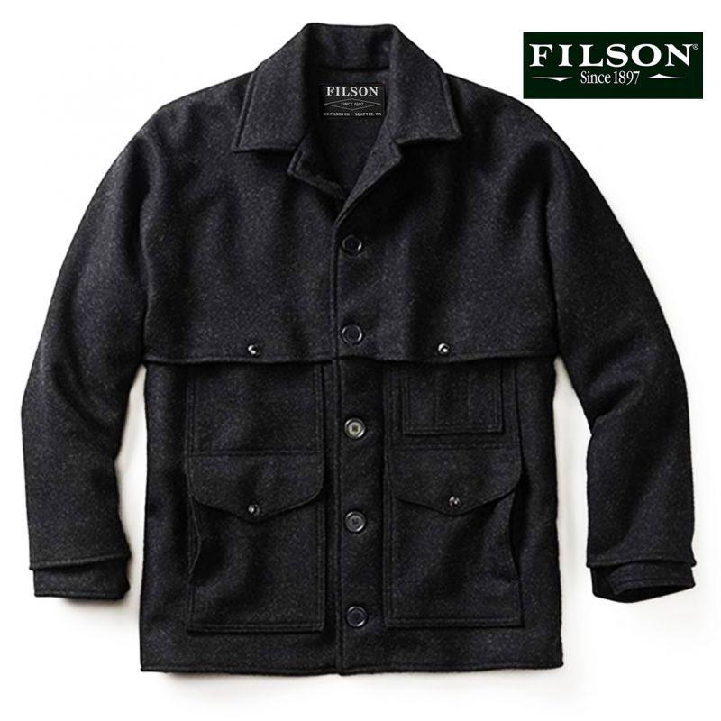画像1: フィルソン ダブルマッキーノ クルーザー ジャケット(チャコール)/Filson Double Mackinaw Cruiser Jacket(Charcoal) (1)