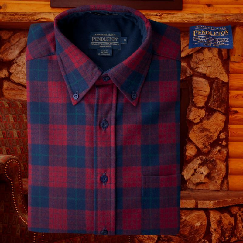 画像1: ペンドルトン ウール シャツ・ファイアーサイドシャツ(長袖・ロビンソン ドレス タータン)/Pendleton Fireside Shirt (Robinson Dress Tartan) (1)