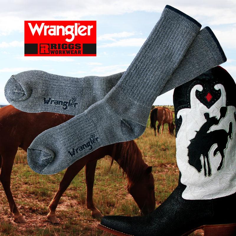 画像1: ラングラー U.S.A ウエスタンブーツ用 ソックス(ネイビー)/Wrangler Western Boot Socks(Navy) (1)