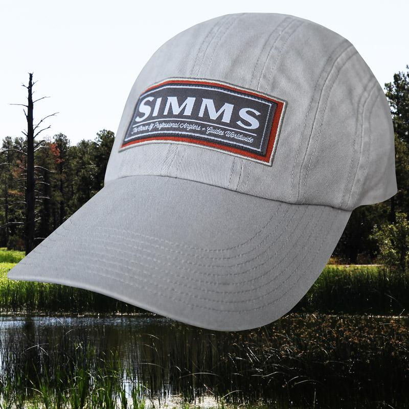 画像1: シムス ロングビル 8パネル UPF50+ サンプロテクション キャップ(グレー)/Simms Cap(Grey) (1)