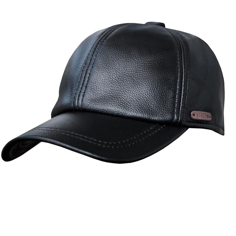 画像1: レザーキャップ(ブラック)/Leather Cap(Black) (1)