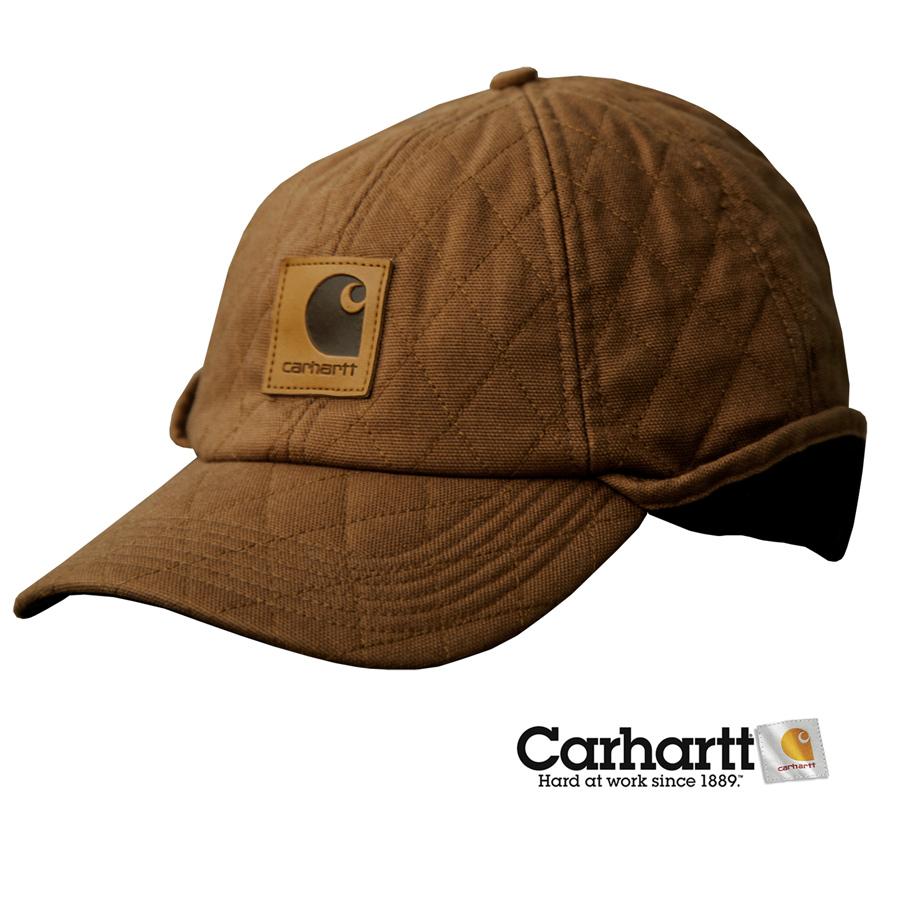 画像1: カーハート イアーフラップ キャップ(ブラウン)/Carhartt Flap Cap(Brown) (1)
