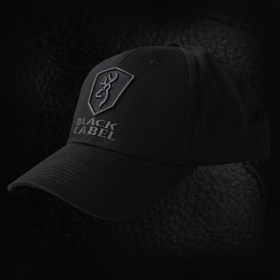 画像1: ブラックラベル デルタ リップストップ パトロールキャップ(ブラック)/Baseball Cap (1)