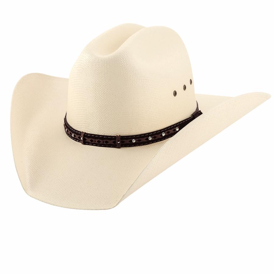 画像1: ウエスタン ストロー ハット (アイボリー)/Western Straw Hat (Ivory) (1)