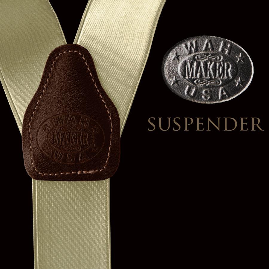 画像1: ワーメーカー サスペンダー(カーキ)/Wah Maker Suspenders(Khaki) (1)