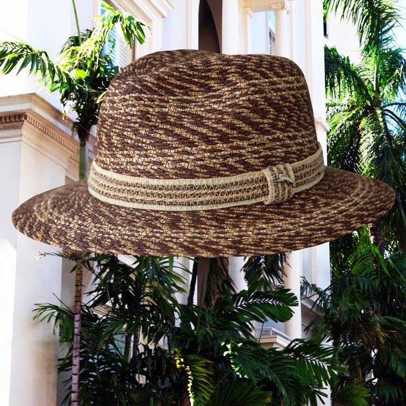 画像1: トミーバハマ  リゾートハット(ブラウン)ハットサイズ調整テープつき/Tommy Bahama Straw Hat(Brown) (1)