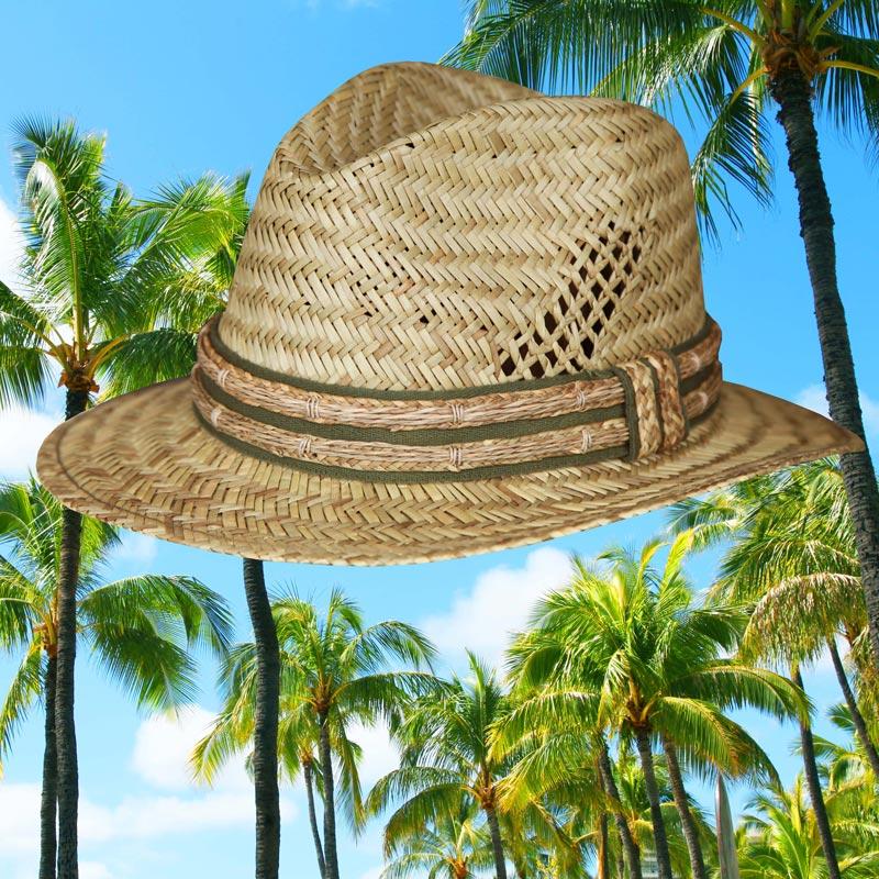 画像1: リゾート ストローハット/Straw Hat (1)