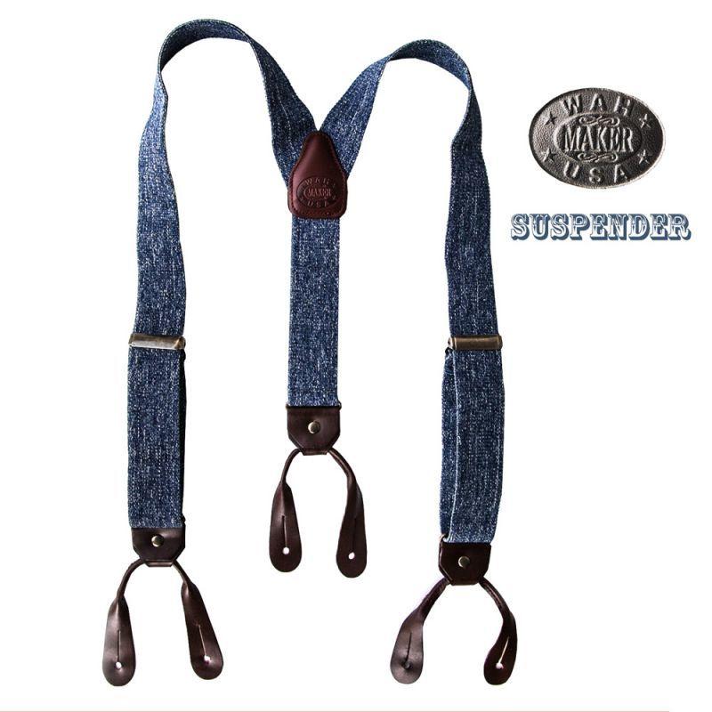 画像1: ワーメーカー サスペンダー(デニム)/Wah Maker Suspenders(Denim) (1)